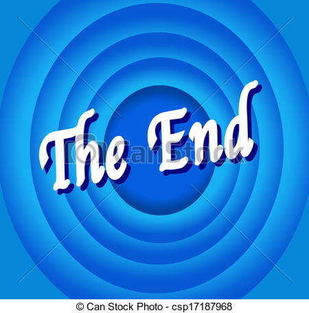 Clip Art Vector of the end Movie ending screen.