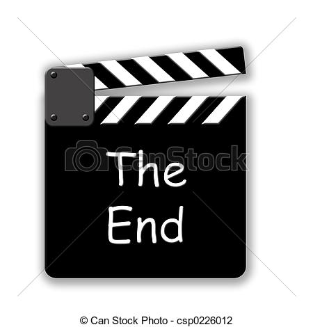 Clip Art of The End.