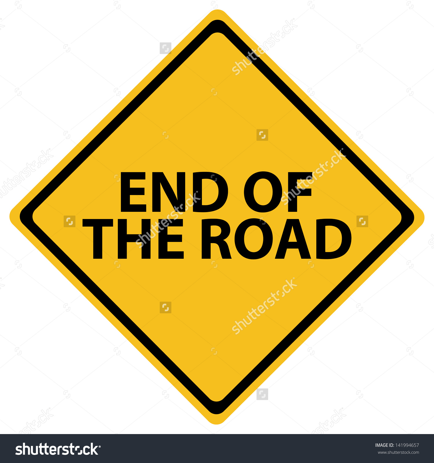 End of the road clipart.