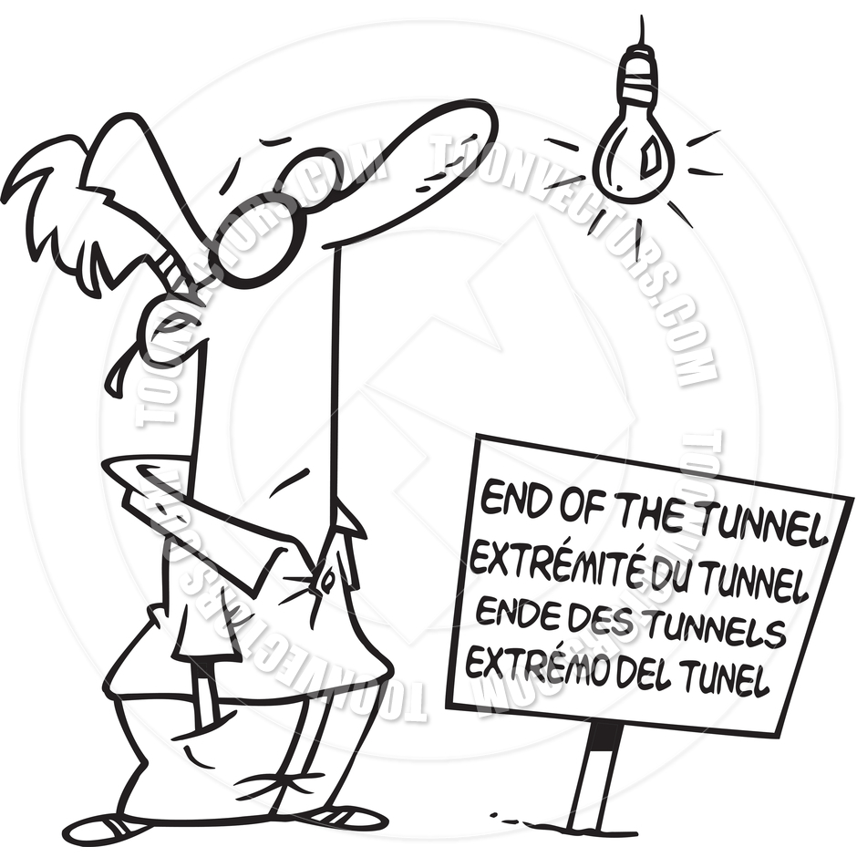 the tunnel of light at the end clip art