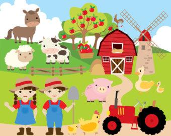 farm clip art. industrial farm ferme industrielle. farm.