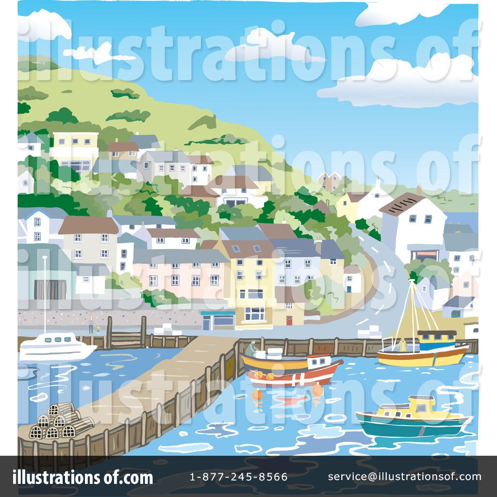 Harbor Clipart #35921.