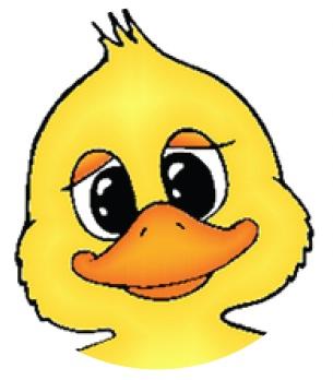Duck head clip art.