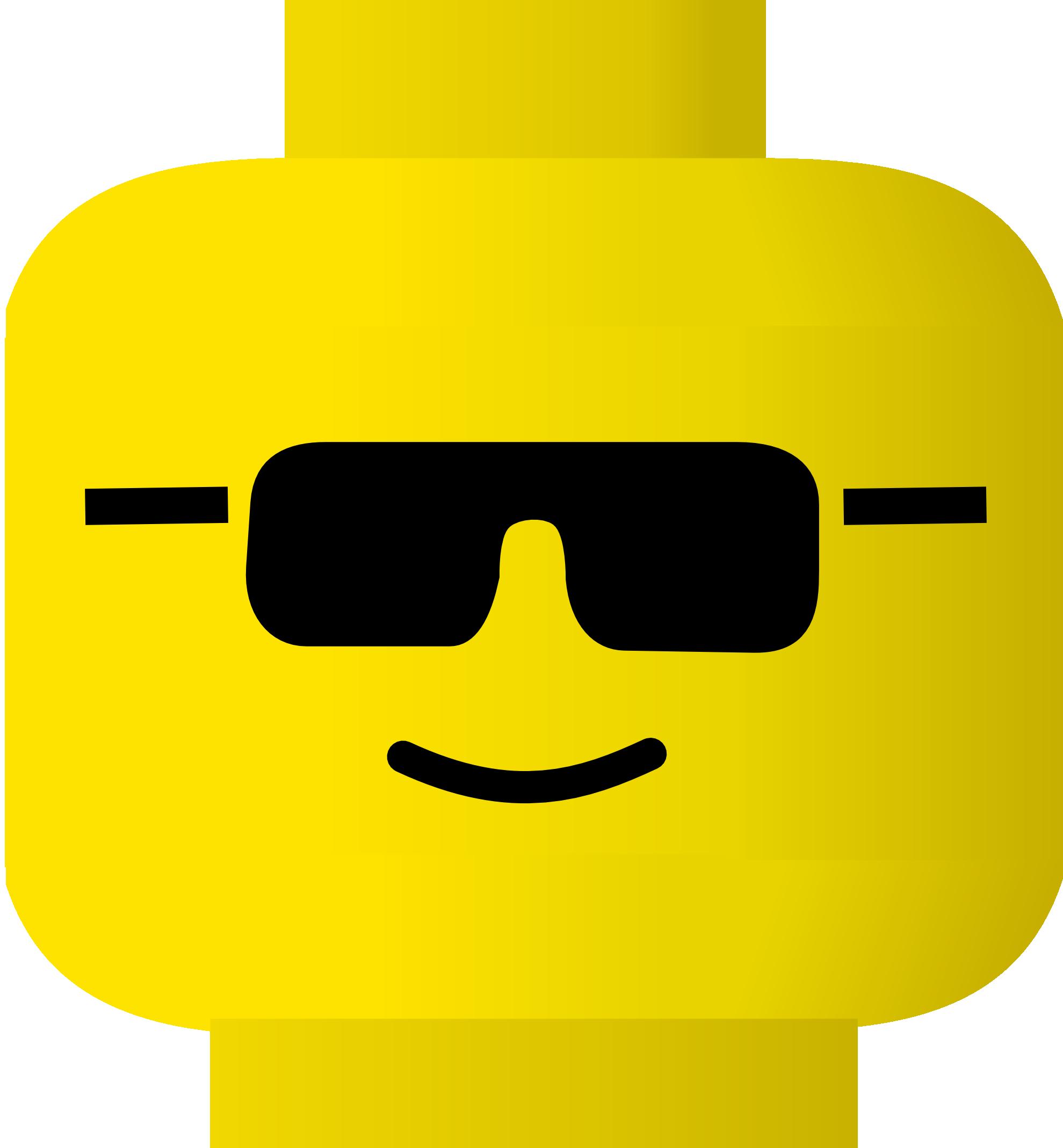 Free lego head clip art.