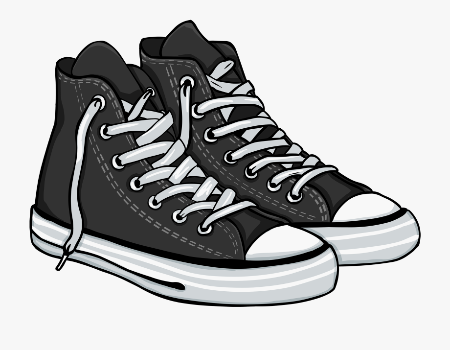 Black High Sneakers Png Clipart.