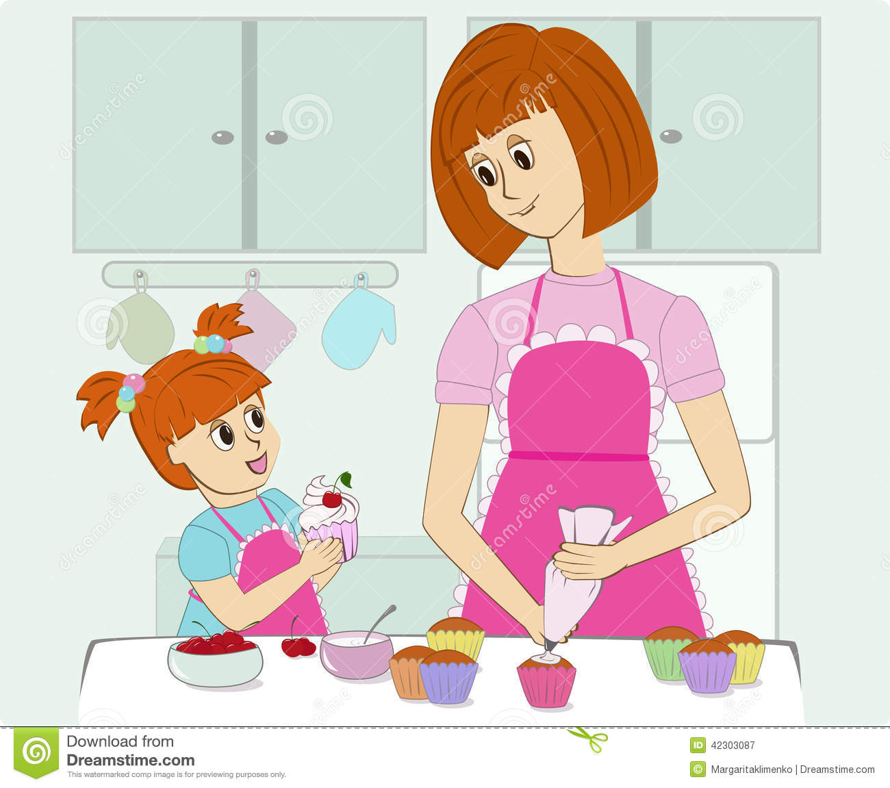 Mother cooking in the kitchen clipart 5 » Clipart Station.