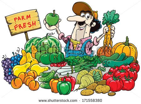 Produce Market Clipart.