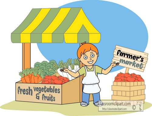 At the market clipart.