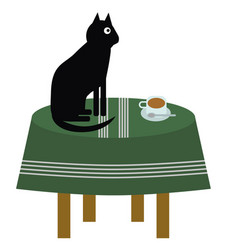 Cat on the Table Clipart Vector Images (24).