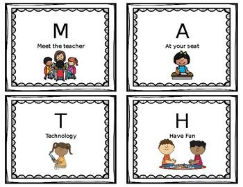 Math Center Cards (editable).