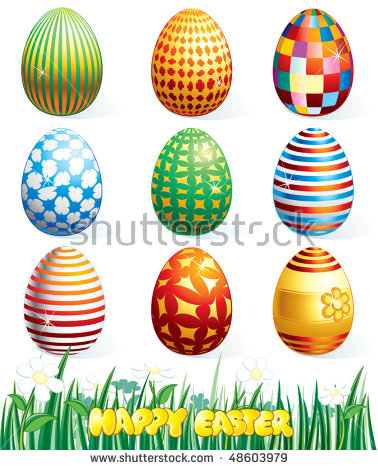 clip art easter eggs.