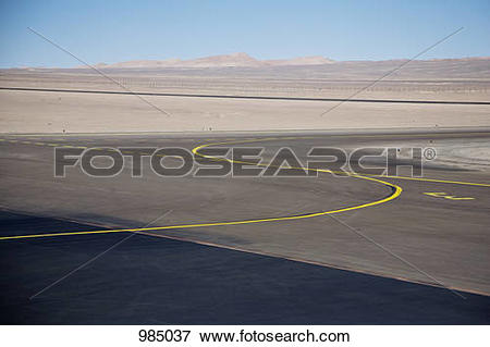 Picture of View of an airport tarmac in the Atacama Desert, Chile.