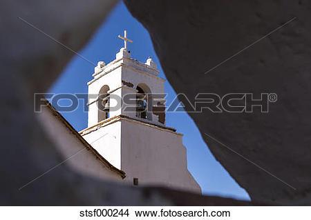 Stock Photo of Chile, Atacama Desert, Church in San Pedro de.