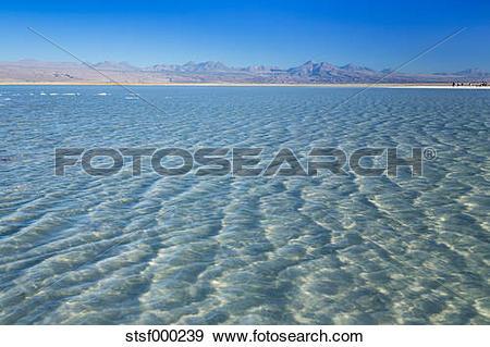Stock Photograph of Chile, Atacama Desert, Laguna Tebinquinche.