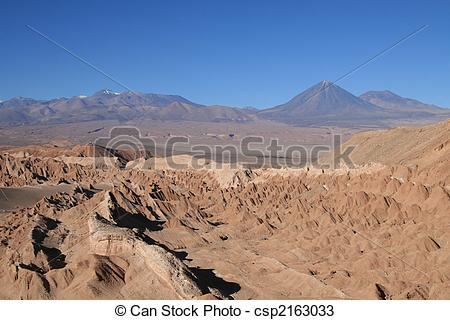 Stock Photos of Volcan in Atacama desert.