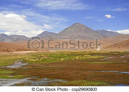 Stock Photography of Remote Atacama Desert, Chile.