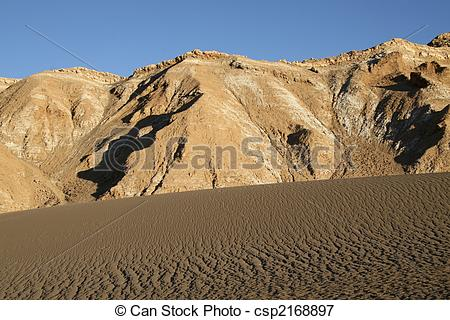 Picture of Sand dune in the Atacama desert in North Chile.
