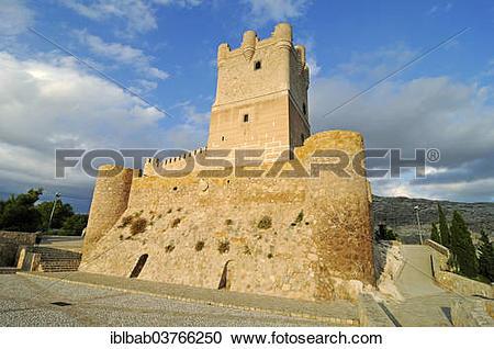 """Stock Photography of """"Castillo de la Atalaya or Castillo de."""