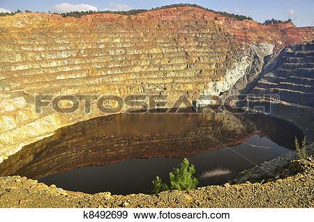 Stock Photograph of Iron pyrite Corta Atalaya, Riotinto k8492699.