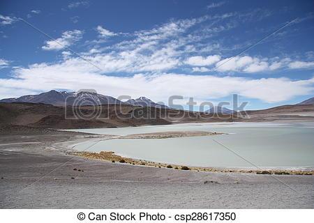 Stock Images of Laguna Honda in Atacama Desert.