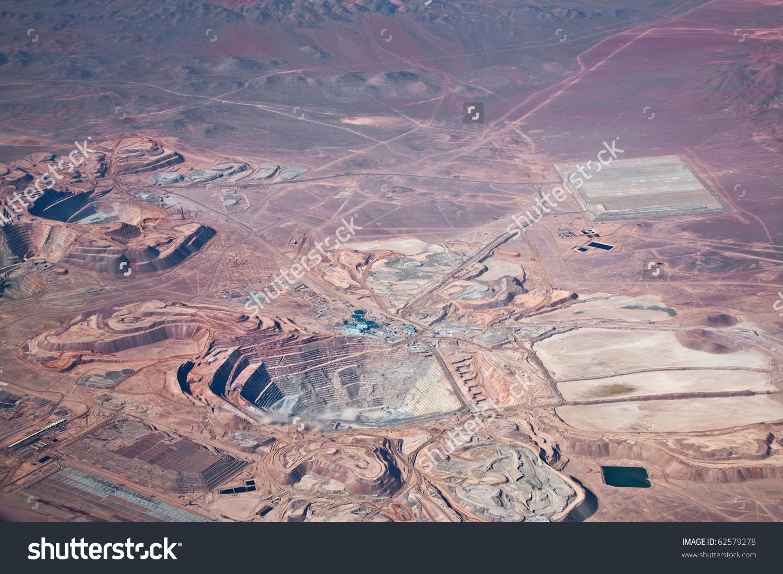 Aerial View Openpit Copper Mine Atacama Stock Photo 62579278.