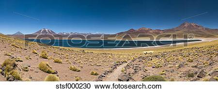 Stock Photography of South America, Chile, Atacama Desert, Laguna.