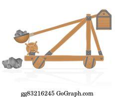 Catapult Clip Art.
