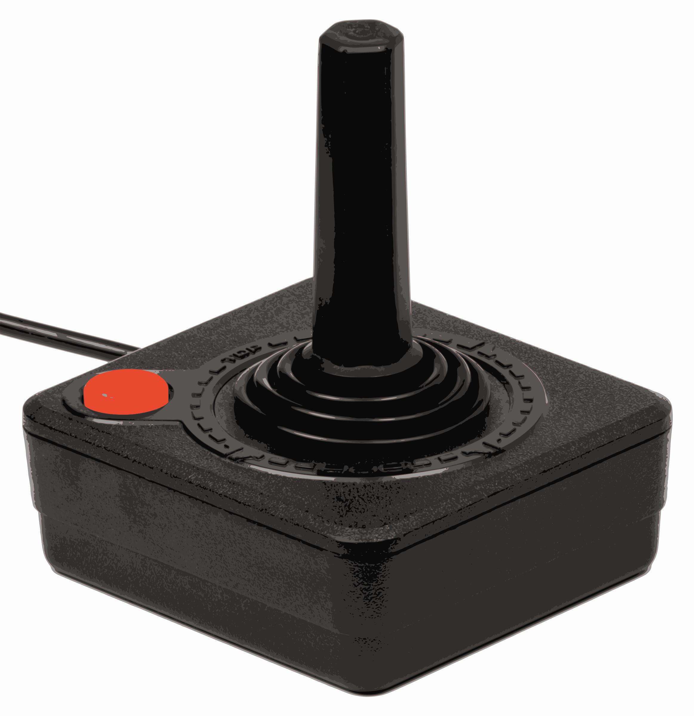 Atari 2600 Joystick Vector Clipart.