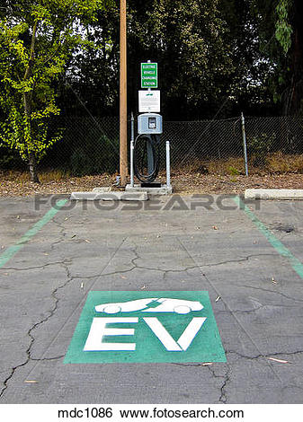 Stock Images of Charging station for electric vehicles, bank.