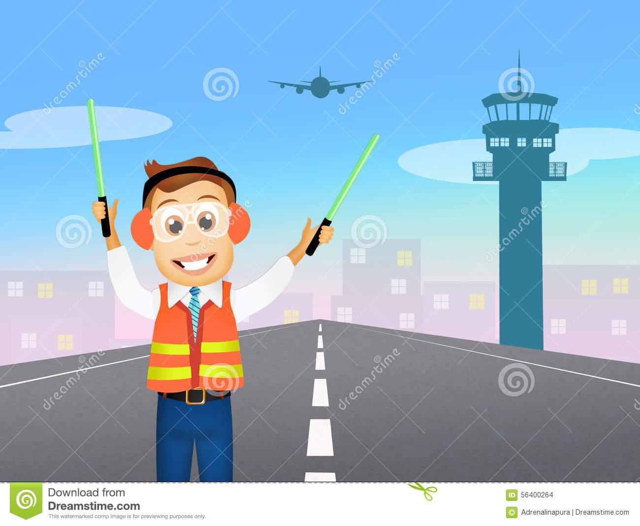 Air traffic control clipart.