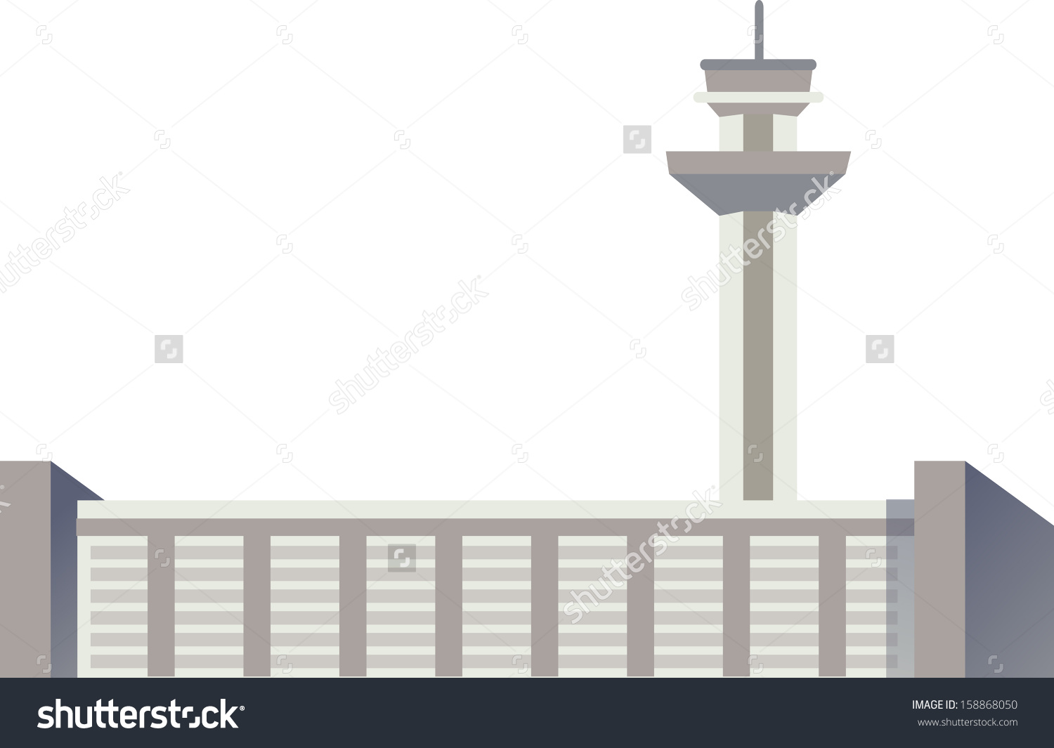 Vector Illustration On Air Traffic Control Stock Vector 158868050.