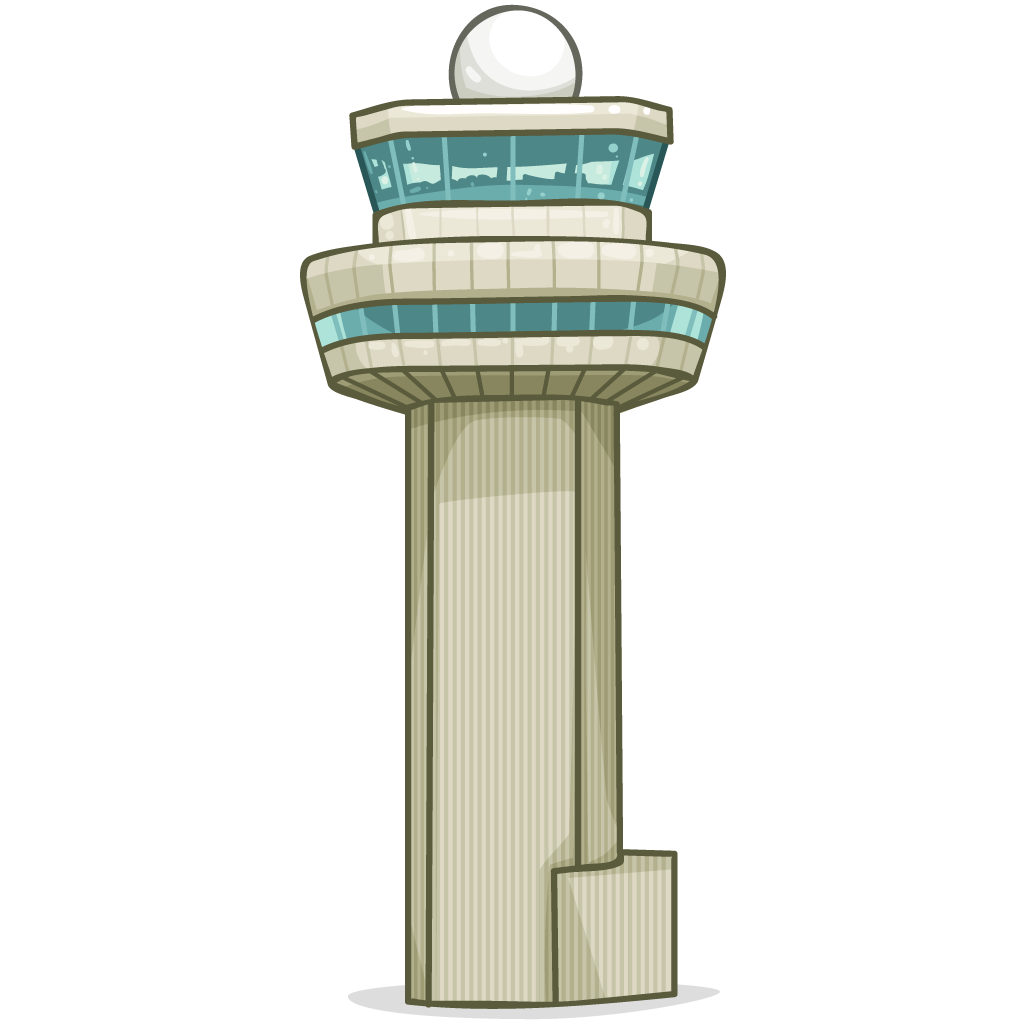 Atc tower clipart.