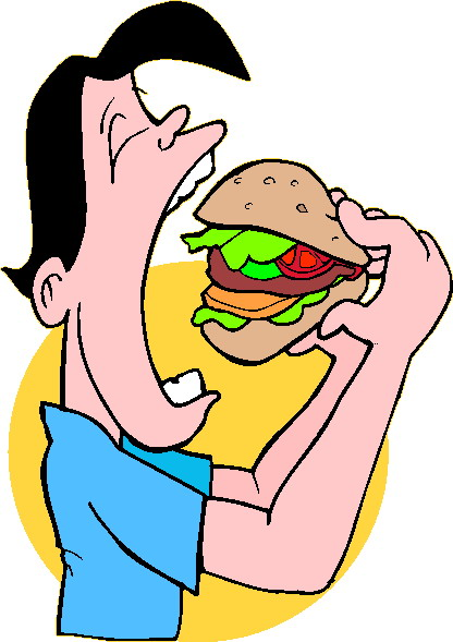 clipart eating.