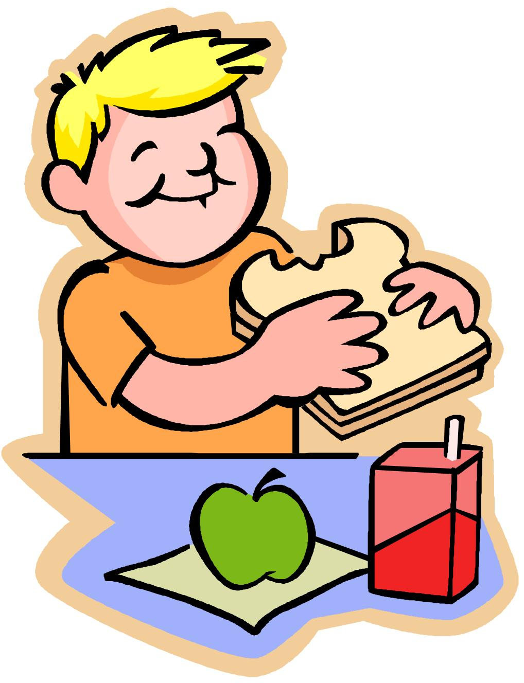 Kids eating clip art.