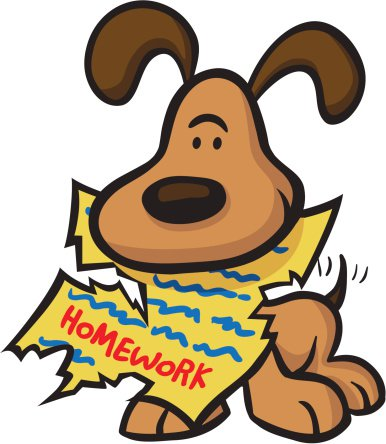 Dog ate homework clipart.