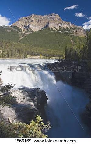 Stock Photograph of Athabasca Falls, Jasper National Park, Alberta.