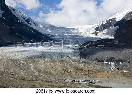 Stock Image of Athabasca Glacier, Columbia Icefield, Jasper.