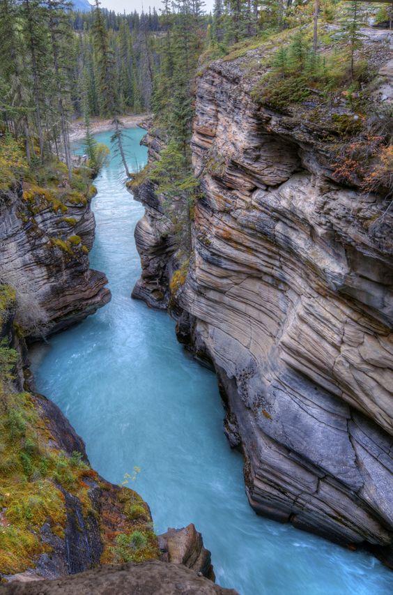 Athabasca Falls Canyon.