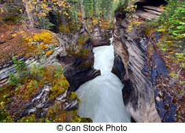Pictures of Athabasca Falls in Jasper National Park csp4503998.