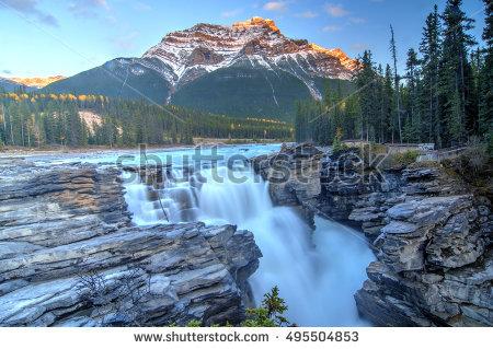 Athabasca Falls Stock Photos, Royalty.