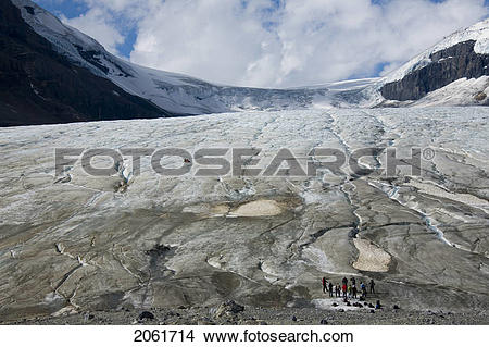 Stock Photo of Athabasca Glacier, Columbia Icefield, Jasper.