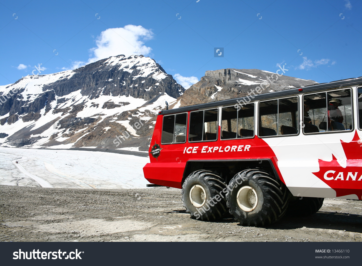 Columbia Icefield Athabasca Glacier Jasper National Stock Photo.