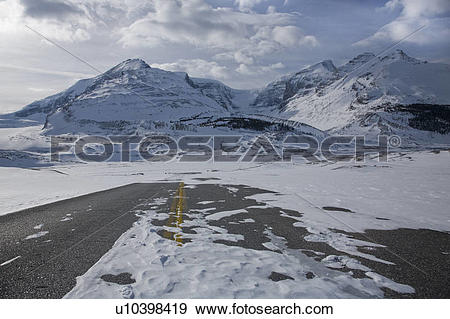 Stock Photograph of Deserted snow.