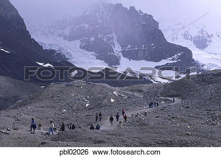 Stock Images of Athabasca Glacier, Icefield Parkway, Jasper.