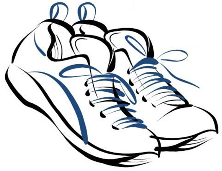 Athletic Shoes Clipart.