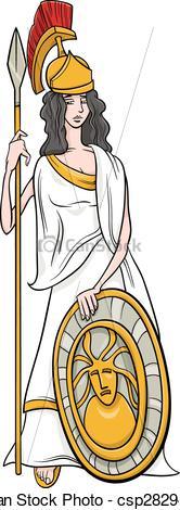 Clipart gif images of greek goddess athena.