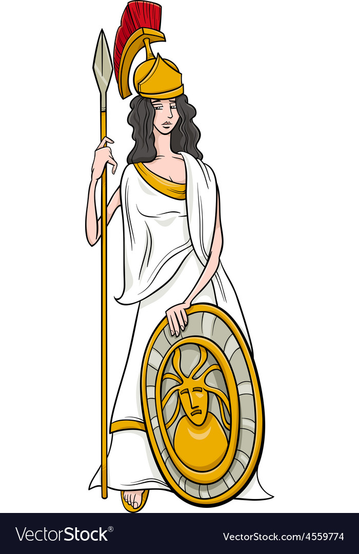 Greek goddess athena cartoon.