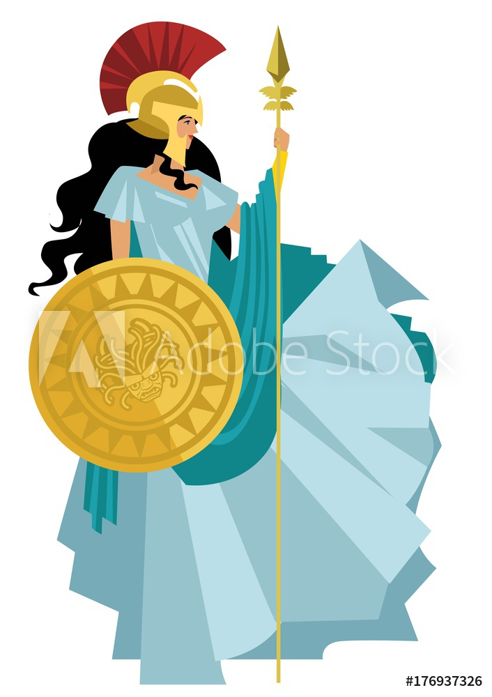 Photo & Art Print palas athena minerva greek mythology goddess.