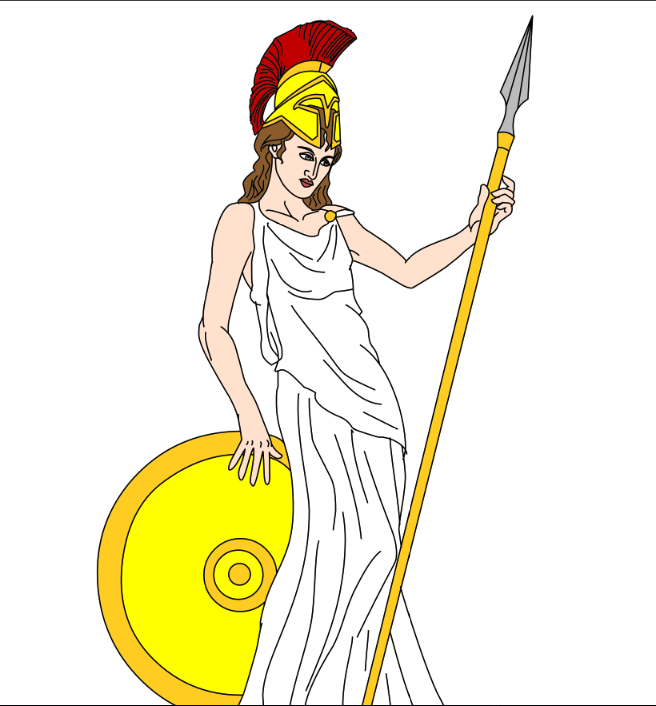 Athena Goddess of Wisdom and Battle.