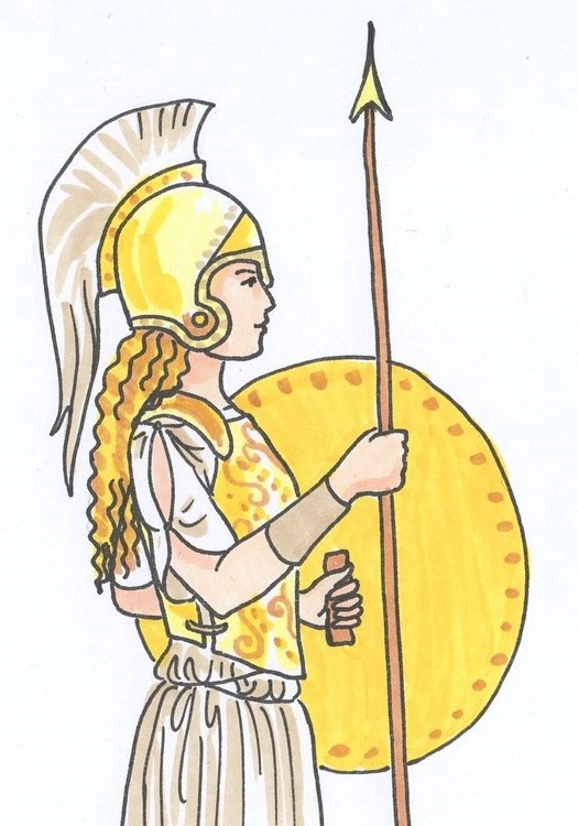 Athena the most powerful mind of the ancient world.